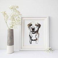 Personalised Pet Portrait Foil Photograph Print, Gold/Silver/Copper Rose