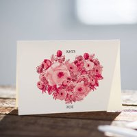 Personalised Valentines Day Heart Card