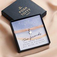 Sterling Silver 'True Friends' Star Bracelet Giftbox, Silver
