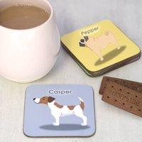 Personalised Cute Dog Breed Coaster