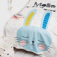 Personalised Children's Cute Rabbit Blanket