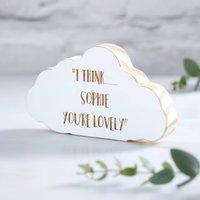 Thinking Of You Personalised Cloud Keepsake