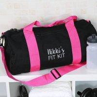Personalised Fit Kit Gym Bag