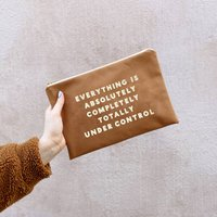 Everything Is Under Control Tan Pouch