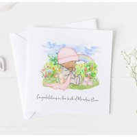 New Baby Card For Rainbow Baby, Christening Card .4v14a
