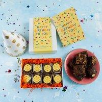 Happy Birthday Confetti Gluten Free Luxury Brownie Gift