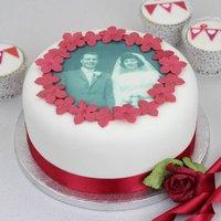Personalised Wedding Anniversary Cake Photo Topper