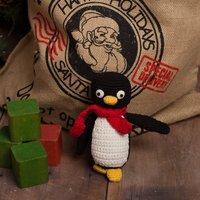Christmas Hand Crochet Penguin