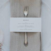 Wedding Dinner Menu Wrap Around Cards