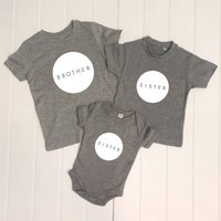 Brother And Sister Circle Set Of Three T Shirts