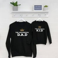 Notorious Father And Child Matching Sweatshirt Set