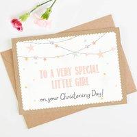 Peach Christening Card