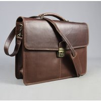 Personalised Leather Satchel Bag