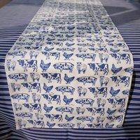 Farm Animals Cotton Table Runner