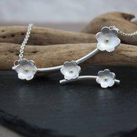 Handmade Buttercup Flower Branch Necklace