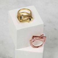 Gold Gemstone Stacking Ring Anais, Gold