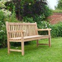 Engraved Wooden Garden Bench