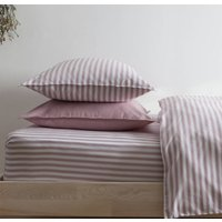 Ticking Stripe Rose Pink Pillowcase, Pink