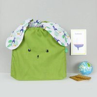 Bunny Rabbit Lunch Bag Toucan And Exotic Palm Print