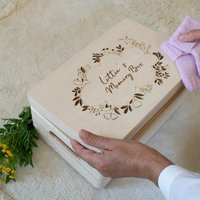 Personalised Memory Box With Bird And Floral Design