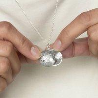 Silver Tree Of Life Fingerprint Locket Necklace, Silver
