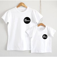 Like Mother, Like Daughter Logo T Shirt, White/Black/Red
