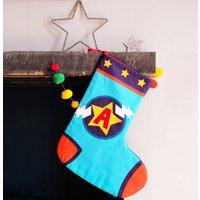 Personalised Superhero Christmas Stocking