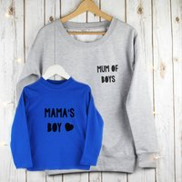 Mum Of Boys Twinning Mother And Child Jumper Set