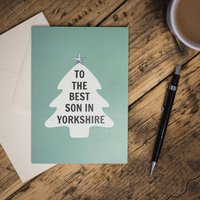 'To The Best Son In Yorkshire' Card