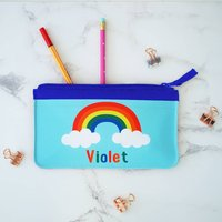 Personalised Rainbow And Clouds Pencil Case
