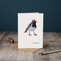 Christmas R Is For Robin Card