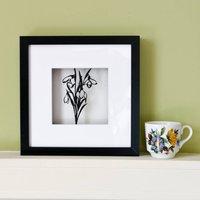 Snowdrops Paper Cut Framed Artwork