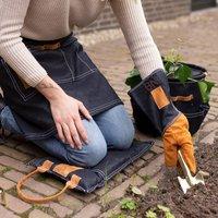 Personalised Long Length Denim Gardening Gloves