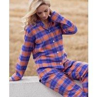 Womens Pyjamas In Tangerine Dream Tartan Flannel