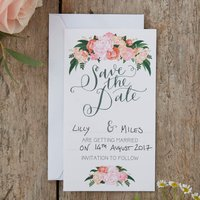 Boho Floral Save The Date Wedding Cards