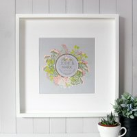 Personalised Cotton Wedding Canvas Print