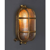 Dave Bulkhead Light For Indoors Or Outdoors, Black/Silver/Brass