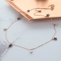 Star Rose Gold Necklace, Gold