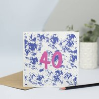 40th Birthday Card For Someone Turning 40 Years Old