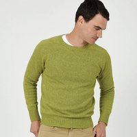 Mens Bruce Apple Green Lightweight Jumper