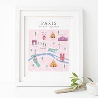 Personalised Paris Map Print
