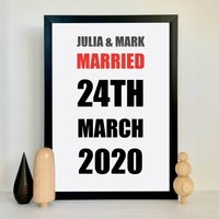 Personalised Typography Wedding Print