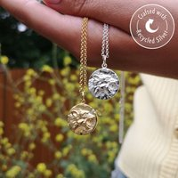 Personalised Sterling Silver Leo Zodiac Necklace, Silver