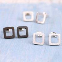 Square Stud Earrings. Geometric Jewellery