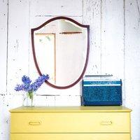Vintage Mirror/ Mahogany Mirror/ Shield Mirror