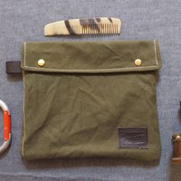Washbag Recycled From 1940's Bivouac Tents