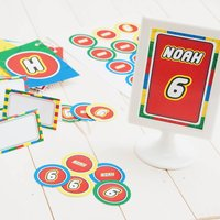 Building Block Personalised Party Decoration Pack