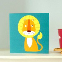 Illustrated Lion Greetings/Birthday Card