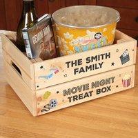 Personalised Family Movie Night Treat Box Crate