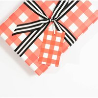 Gingham Gift Tags, Red And White